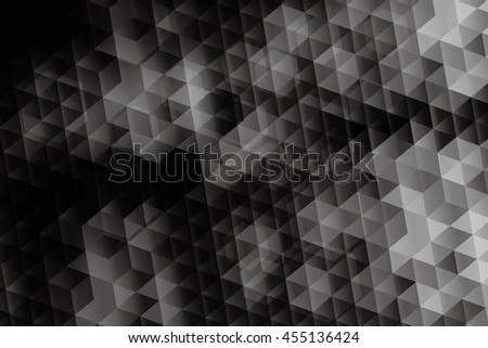Hexagon background black