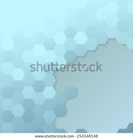 Hexagon cell template - modern background - stock photo