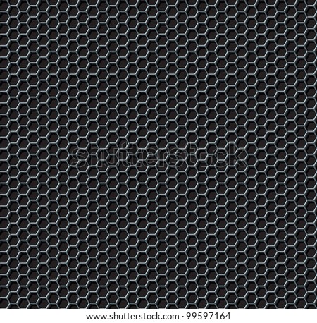 Hexagon Grid Seamless Background. Rasterized Version