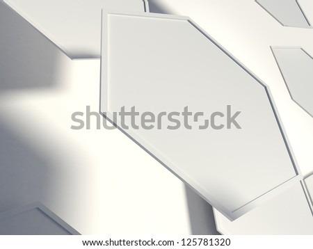hexagon on the white background