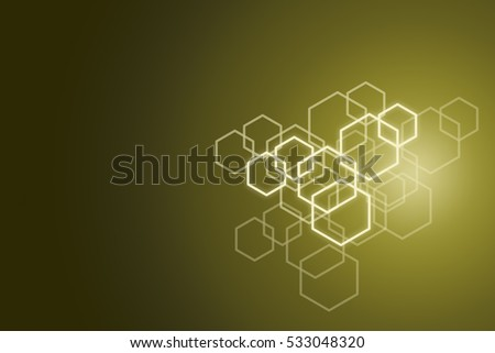 Hexagon pattern background.