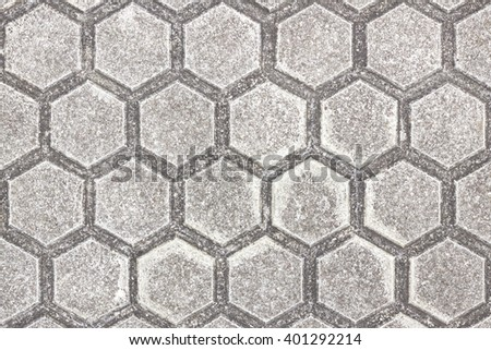 Hexagonal floor tile - stock photo