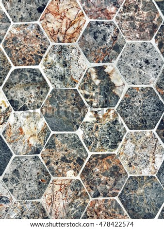 Hexagonal granite tiles as a background