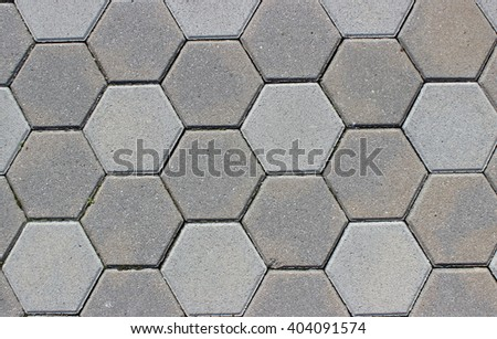 Hexagonal tiles - stock photo