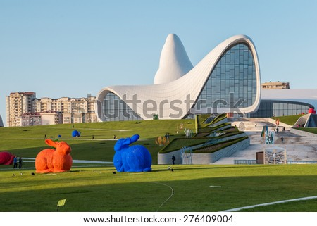 Heydar Aliyev Center in Baku, Azebaijan on May 01 2015