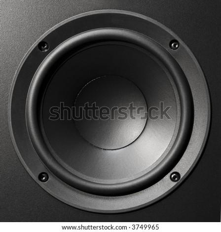 hi-fi speaker close up - stock photo