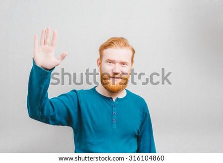 hi open palm - stock photo