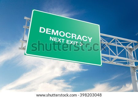 the democracy superhighway essay In a democracy by george a krimsky  are preoccupied with their role as profitable businesses and the task of securing a spot on tomorrow's electronic superhighway .