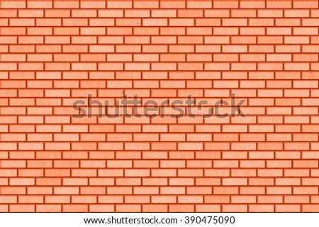 hi-res red small brick wall pattern - stock photo