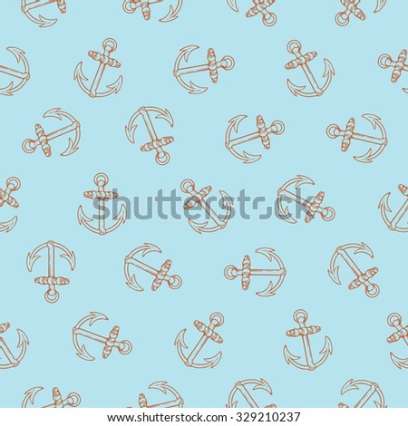 Hi-res seamless pattern design with rotated anchors, marine concept, perfect for surface prints, wallpapers, wrapping papers, web, textiles etc.