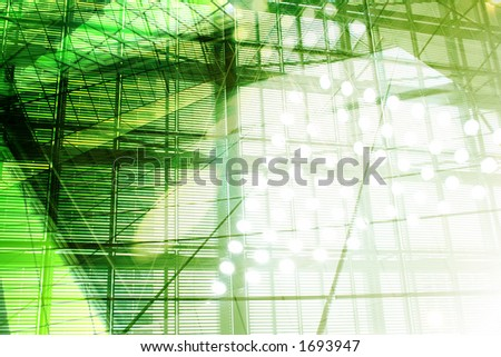 Hi-Tech Abstract Background. Great as a background or a design element. - stock photo