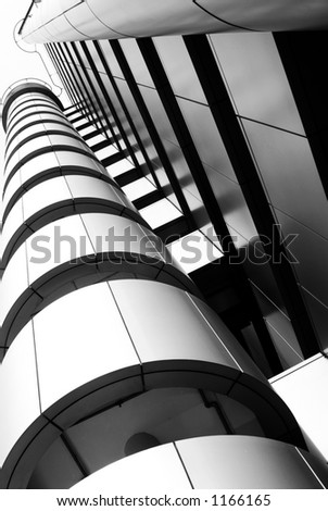 Hi-tech modern building details - Strong lines and patterns. Great as a background or a design element.
