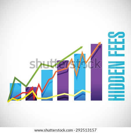 hidden fees business graph sign concept illustration design graphic
