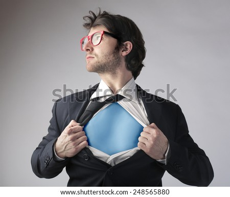 Hidden superhero  - stock photo