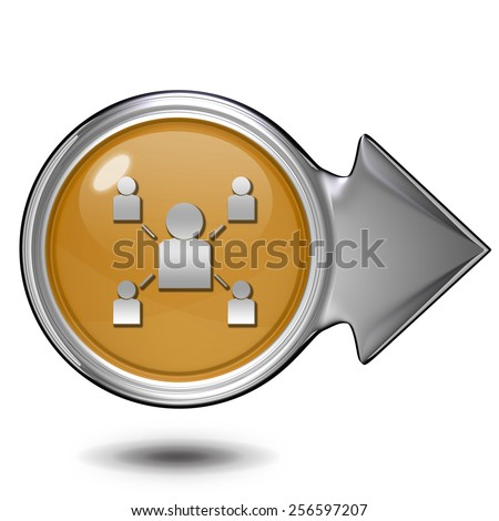 Hierarchy circular icon on white background