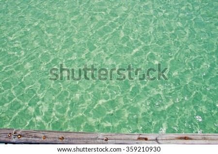 Higgs beach pier, sea, Key West, Keys, Cayo Hueso, Monroe County, island, State of Florida, Sunshine State, coast, Gulf of Mexico, Atlantic Ocean, United States of America, Usa - stock photo