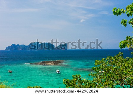 High Above Exotic Backdrop  - stock photo