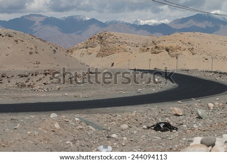 High altitude road in mountains