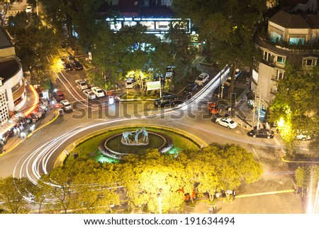 High angle view of a city, Mexico City, Mexico - stock photo