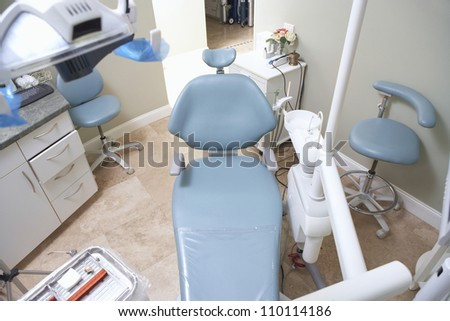 High angle view of a dentistry clinic