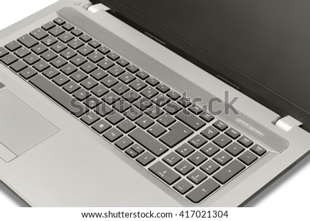 high angle view of a open notebook in white back
