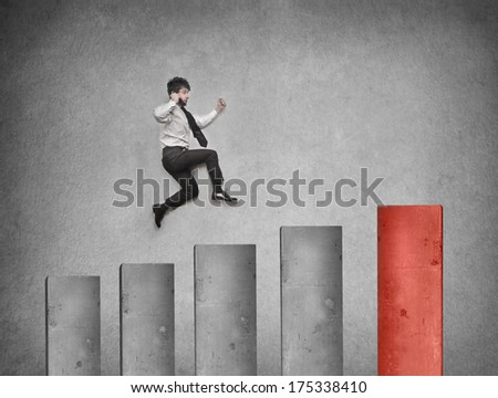 high business - stock photo