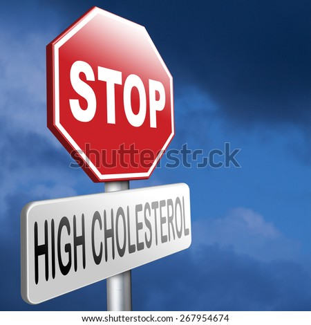 high cholesterol low fat diet lower saturated fats to avoid cardiovascular disease - stock photo