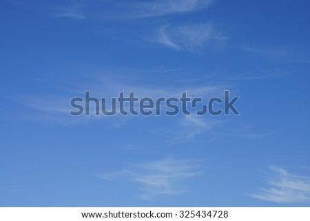 High cirrus clouds and blue sky,  Seaside,  Oregon Coast