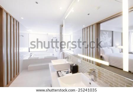 high class bathroom - stock photo