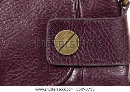 High Class Womens Leather Hand Bag / Purse - stock photo