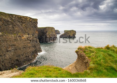 High cliffs of Kilkee in Co. Clare, Ireland - stock photo