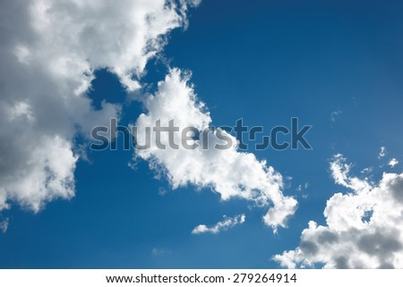High clouds and blue sky, a sunny day - stock photo
