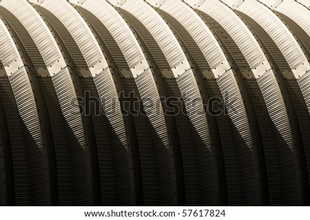 high contrast corrugated metal architecture abstract