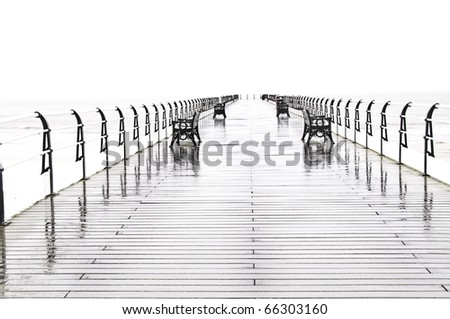 High contrast image of Saltburn Pier, Teeside, UK