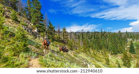 High country trail in the Never Summer wilderness area - stock photo