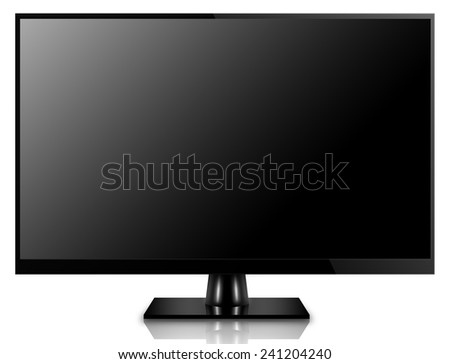 High Definition LCD TV, plasma TV, LED TV or computer monitor - stock photo