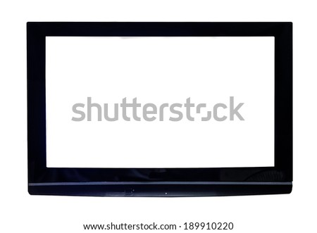 High Definition Monitor, television, isolated on a white background.