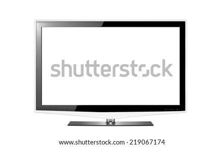 High definition television - stock photo
