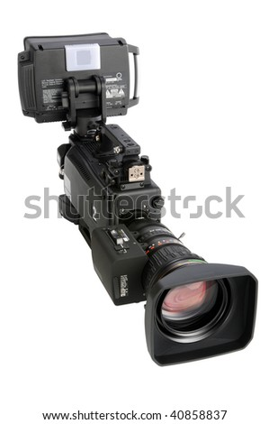 High definition video camera isolated over white background