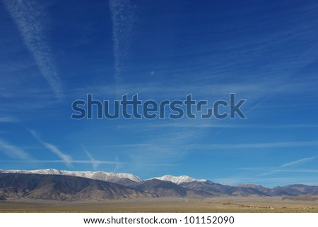 High desert and White Mountains, Nevada