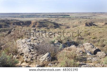 high desert in found in northwest Oklahoma - stock photo