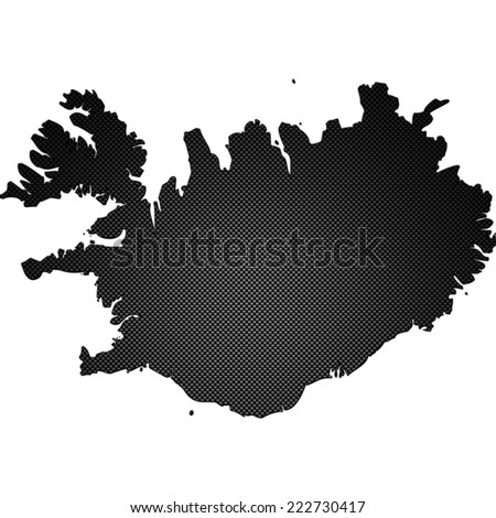 High detailed carbon map - Iceland