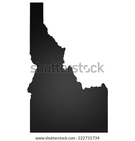 High detailed carbon map - Idaho - stock photo