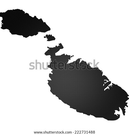 High detailed carbon map - Malta - stock photo