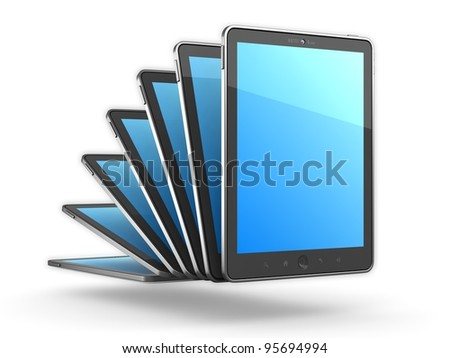 High-Detailed generic Portable Tablet PC on White Background, 3D Render.