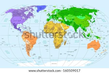 Detailed World Map Stock Images RoyaltyFree Images Vectors - World map detailed