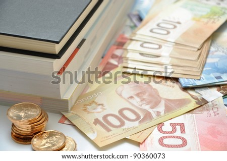 High education fee costs money - stock photo