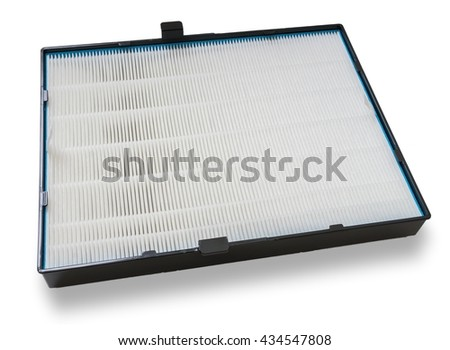 High efficiency air filter for HVAC system. Isolated on white background.