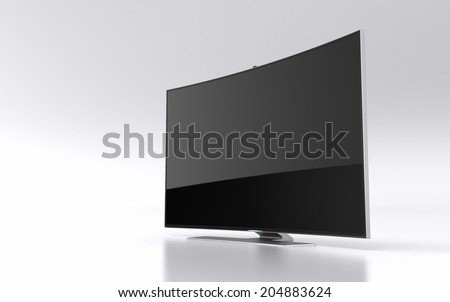High-end curved smart led tv - stock photo