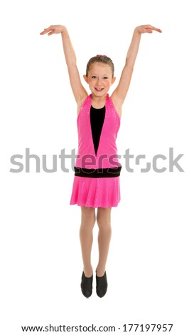 High Energy Tap Dancing Girl in Performance Costume